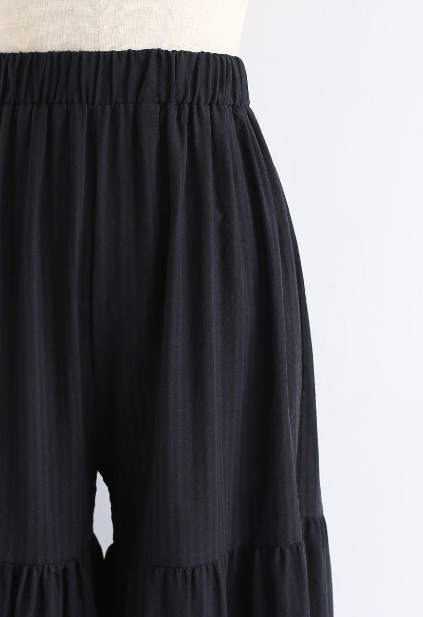 Sonnige Tage Wide-Leg-Hose in Schwarz