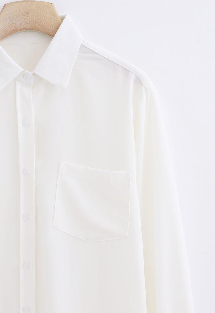 Basic Softness Hi-Lo Shirt in White