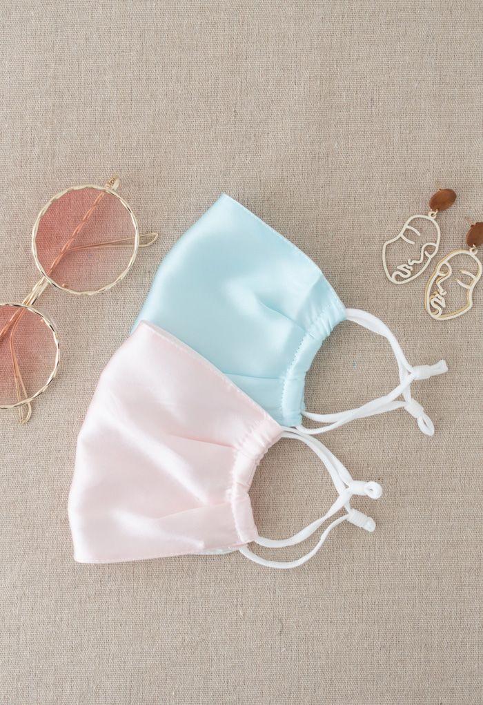 2 Packungen Pink und Light Green Silk Face Coverings