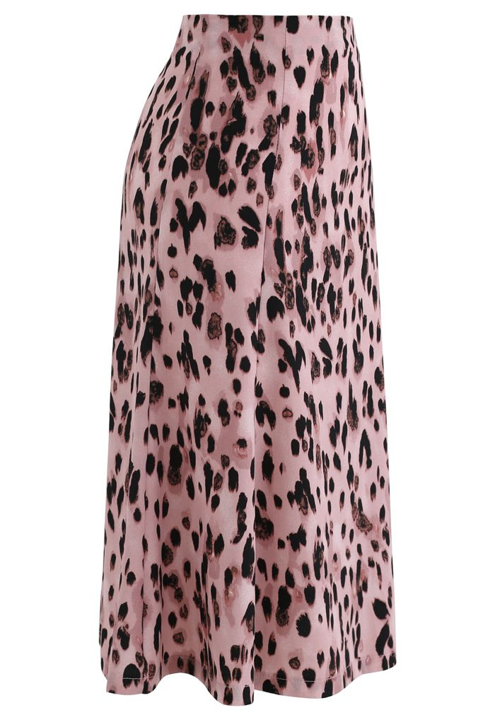 Animal Print Flare Rock in Pink