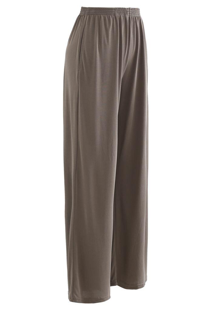 Normcore Seitentaschen Lounge Pants in Braun