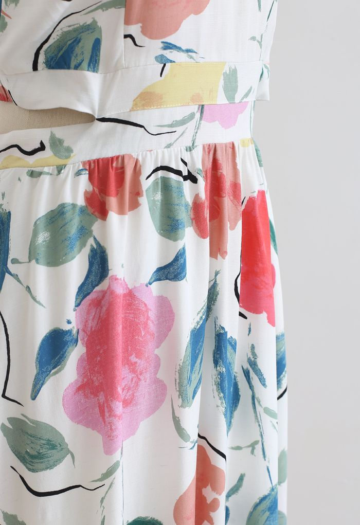 Summer Fun Painted Neckholder-Maxikleid