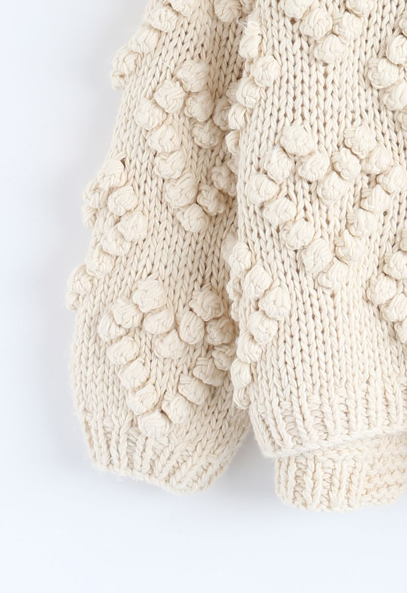 Knit Your Love - Strickjacke für Kinder in Elfenbeinfarben