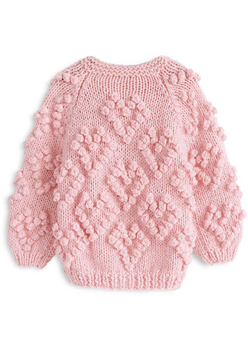 Knit Your Love - Strickjacke für Kinder in Pink