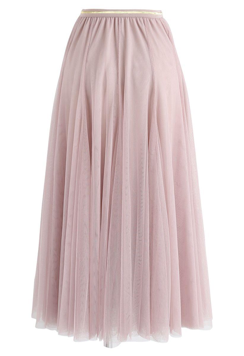 Meine Geheimwaffe: langer rosa Tüllrock