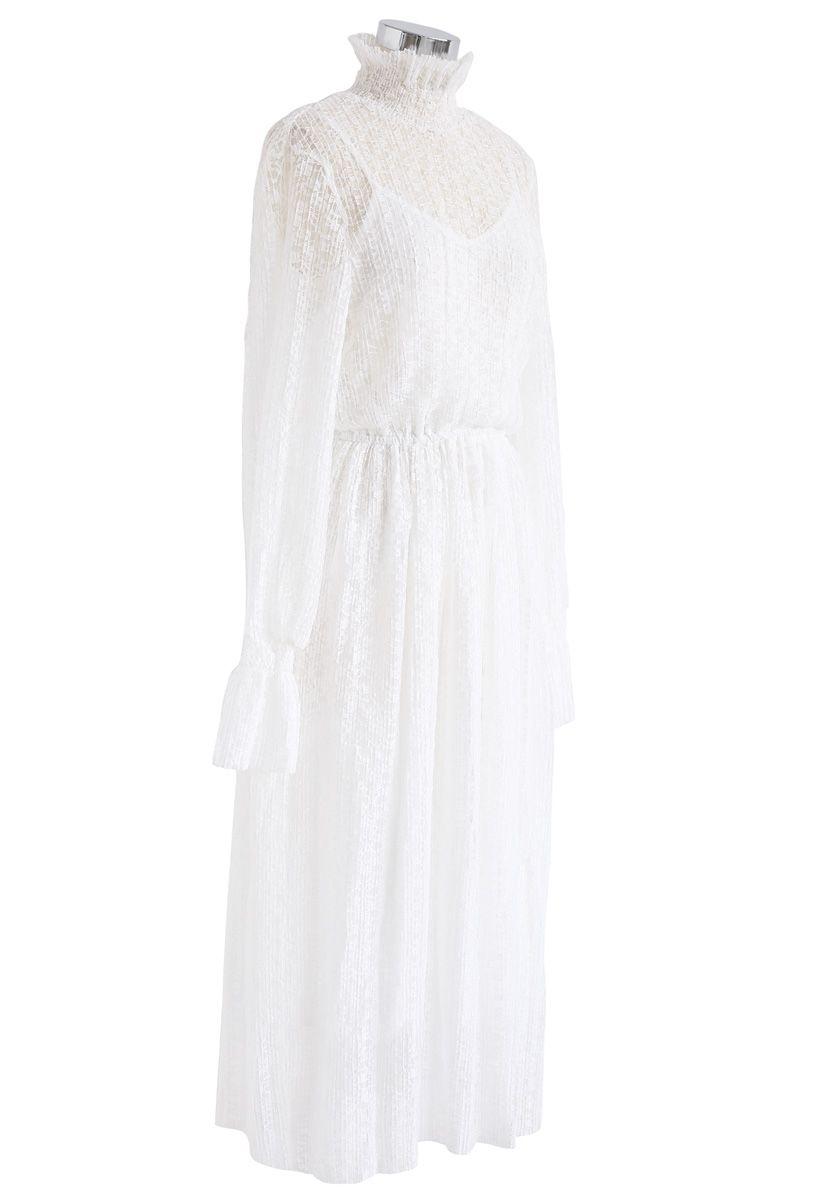 Das Ziel Der Weissen Plissee Spitze Romantisches Kleid Retro Indie And Unique Fashion