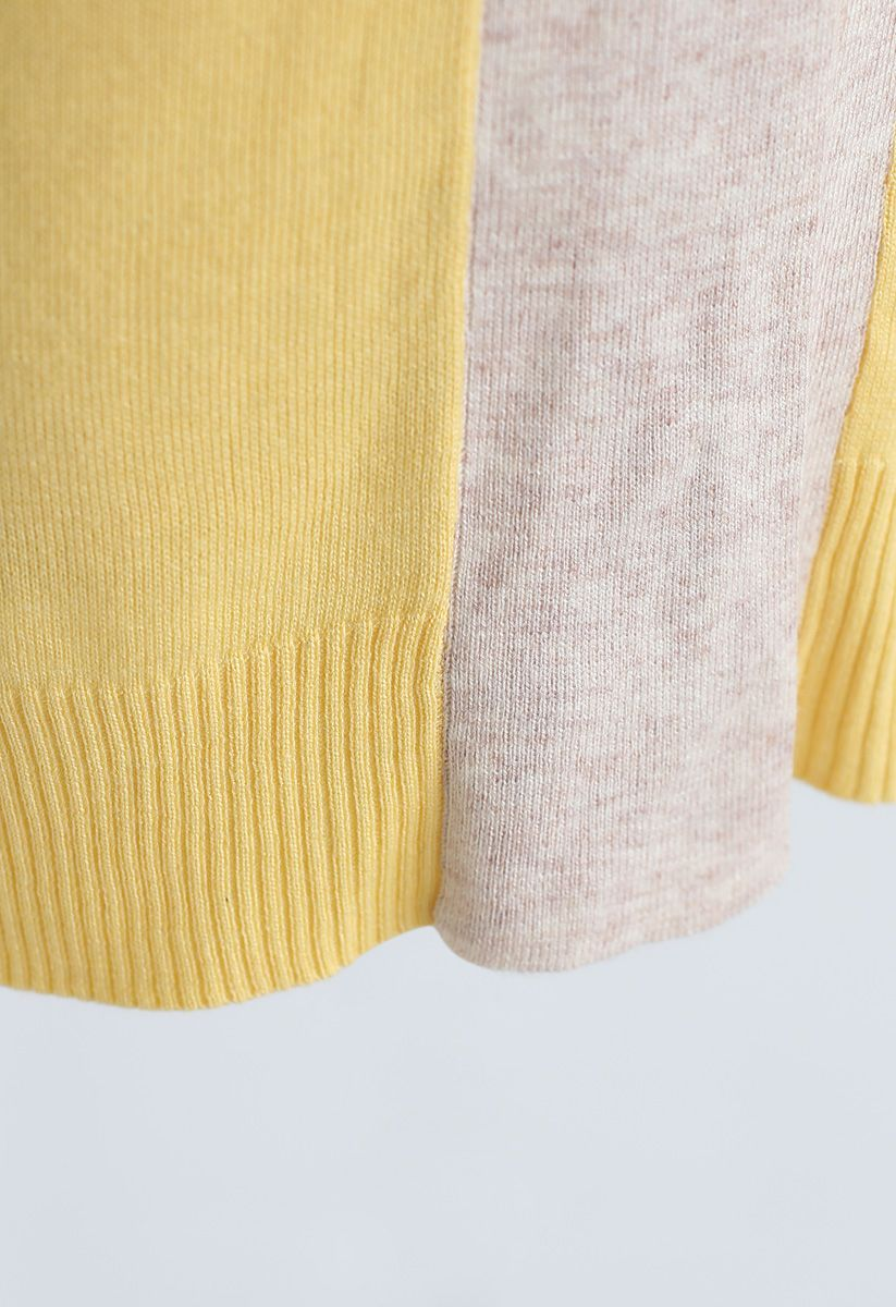 Bright Hue Cardigan mit geteiltem Rücken und Gürtel