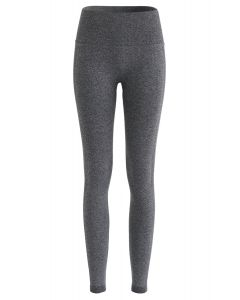 High-Rise-Yoga-Leggings mit Po-Lift in Grau