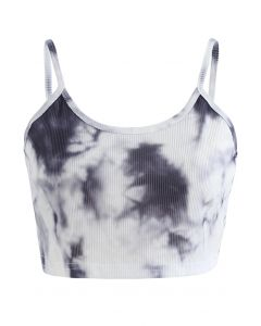 Tie-Dye Crop Tank Top in Tinte