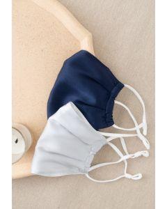 2 Packungen Grau und Navy Silk Face Coverings