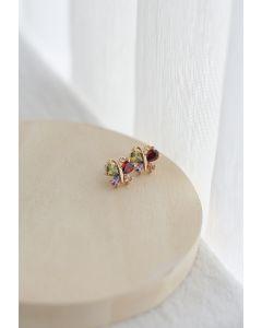 Crystal Butterfly Earrings