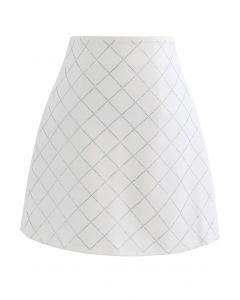 Flackernder Knospenrock in Diamantform aus Elfenbein