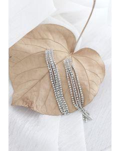 Silberkette Quaste Ohrringe