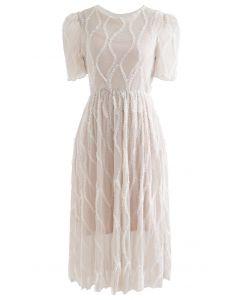 Wickel Rüschen Glitter Mesh Kleid