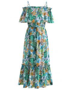 Tropical Vibe Cami-Kleid mit kalten Schultern
