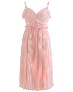 Plissiertes Camisole-Kleid in Muschelform