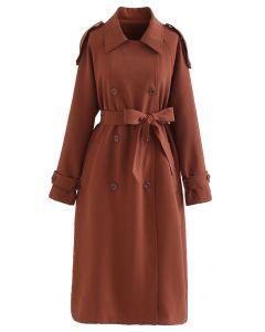 Infinite Trend Zweireihiger langer Mantel