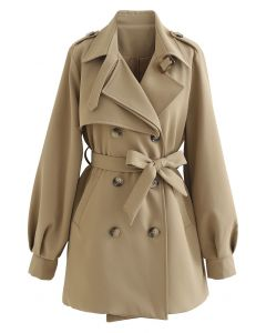 Original Double-Breasted Belted Coat in Khaki