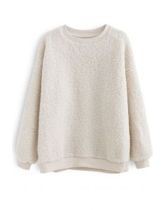 Sherpa Oversized Pullover in Creme