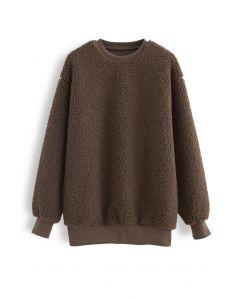Sherpa Oversized Pullover in Braun