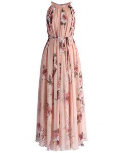 Rosa langes Kleid Panache für Badezimmer