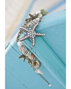 Brazalete de perlas de concha de mar
