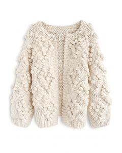 Knit Your Love- Strickjacke in Elfenbeinfarben