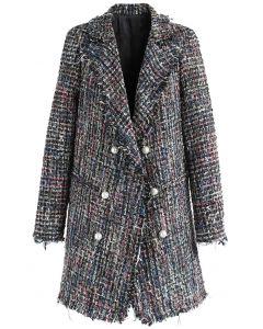 Blinkende Anziehungskraft - gekreuzter Tweed-Mantel