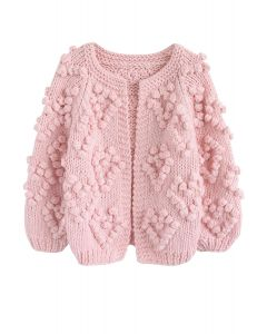 Knit Your Love - Strickjacke en rosa