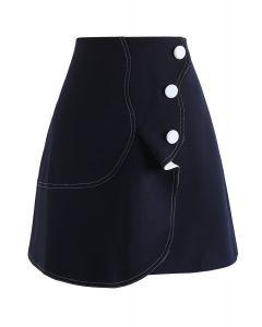 Subtile Wellen - Navy Wing Skirt