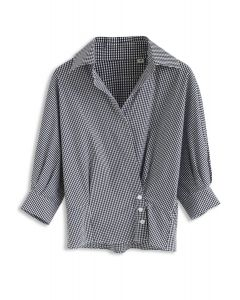 Wrap Up A Vacation – Shirt in Schwarzem Gingham