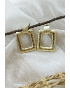 Hammered Square Gold Earrings