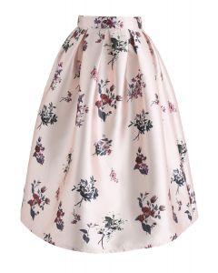 Gehen Sie mit Grace Floral Printed Midi Skirt