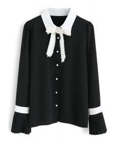 Neues Licht von heute - Schwarzes Chiffonhemd
