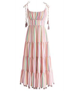 Rainbow Candies – Gestreiftes Maxikleid