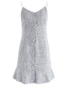 Es wird Tweed Cami Kleid in Grau sein