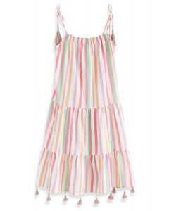 Rainbow Candies Stripes Maxikleid für Kinder