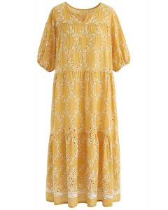 Speichern Sie den Moment Öse gesticktes Kleid