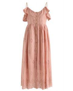 Lovely Day - Besticktes Cami-Kleid aus Koralle