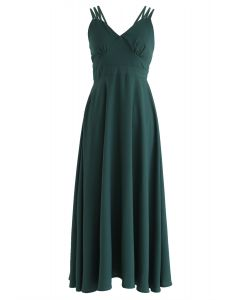 Perfect Sunday - Camisole mit gekreuzter Rückseite in Grün