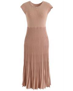 Stehen Sie für Sie stricken ärmelloses Kleid in Koralle