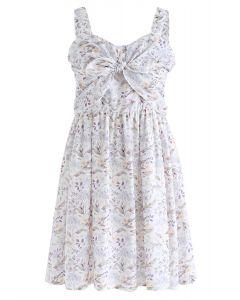 Legen Sie mich in Ihr Herz Bowknot Floral Cami Kleid