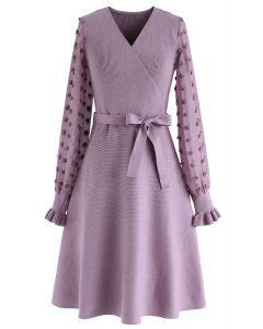 Los geht's Wickelkleid in Violett