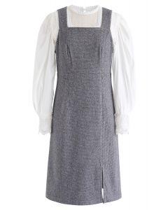 Häkeln Sie ein Spitzenoberteil und ein Cami-Kleiderset aus Wollmischung