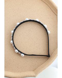 Crystal Pearl Black Stirnband