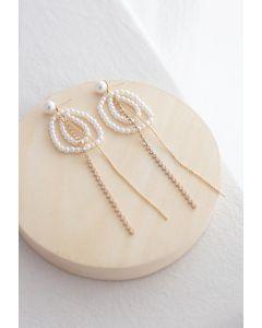 Kreis Perlen Kristallkette Perlenohrringe