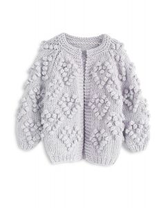 Knit Your Love - Graue Kinder Strickjacke