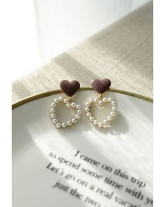 Double Hearts Drop Earrings